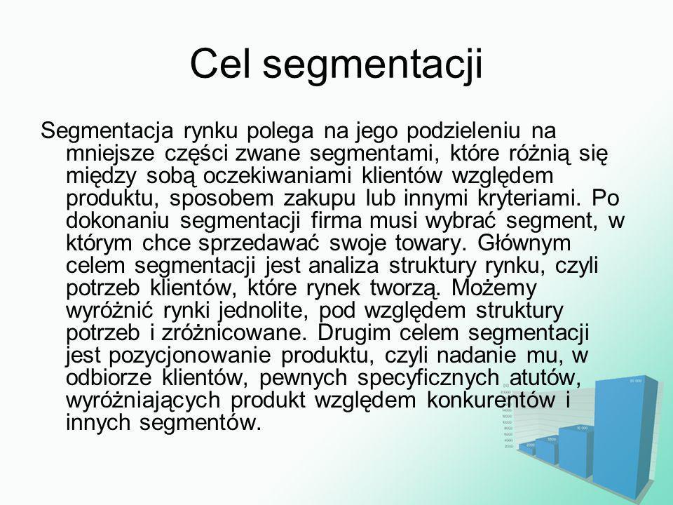 Cel segmentacji