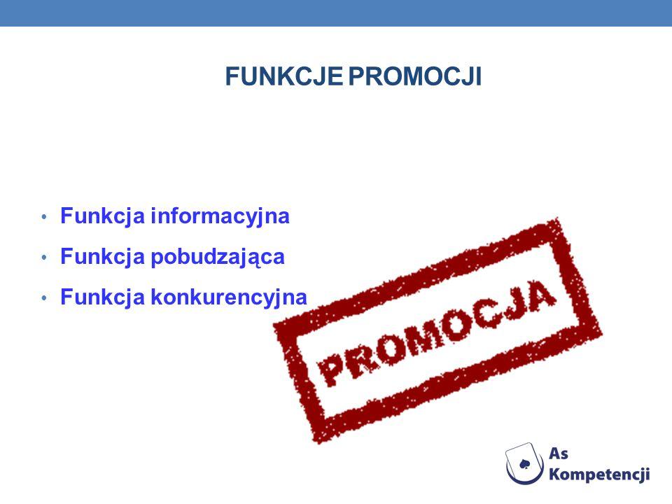 Funkcje promocji Funkcja informacyjna Funkcja pobudzająca