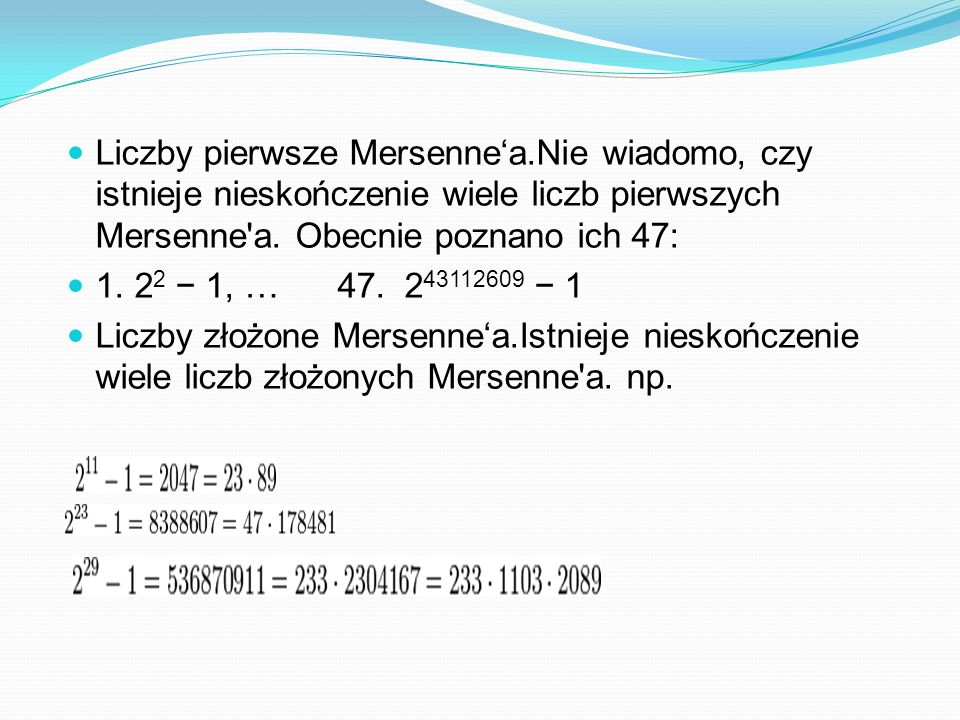 Liczby pierwsze Mersenne'a