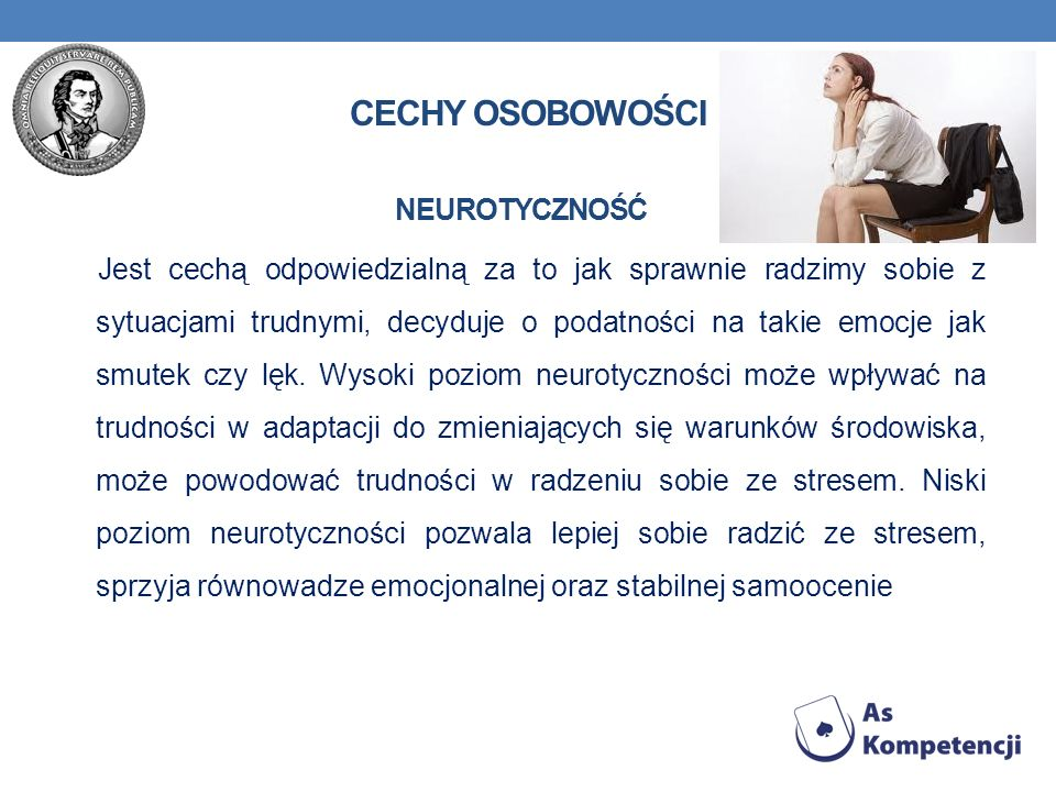 Cechy osobowości Neurotyczność