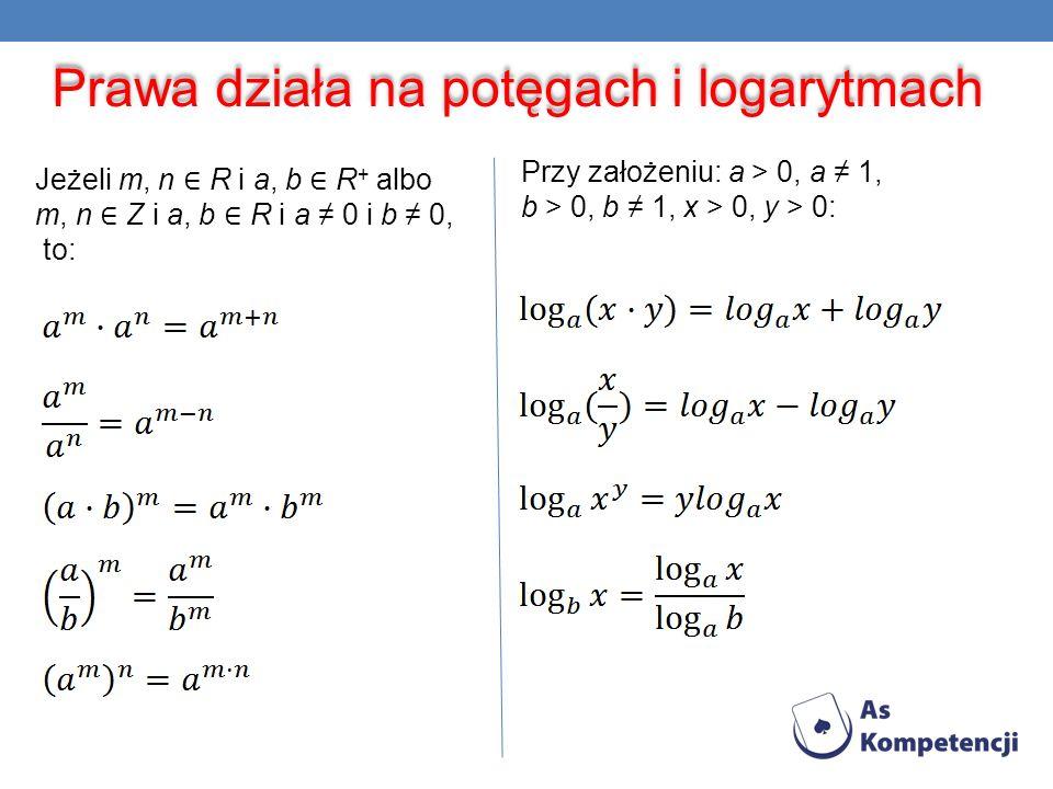 Prawa działa na potęgach i logarytmach