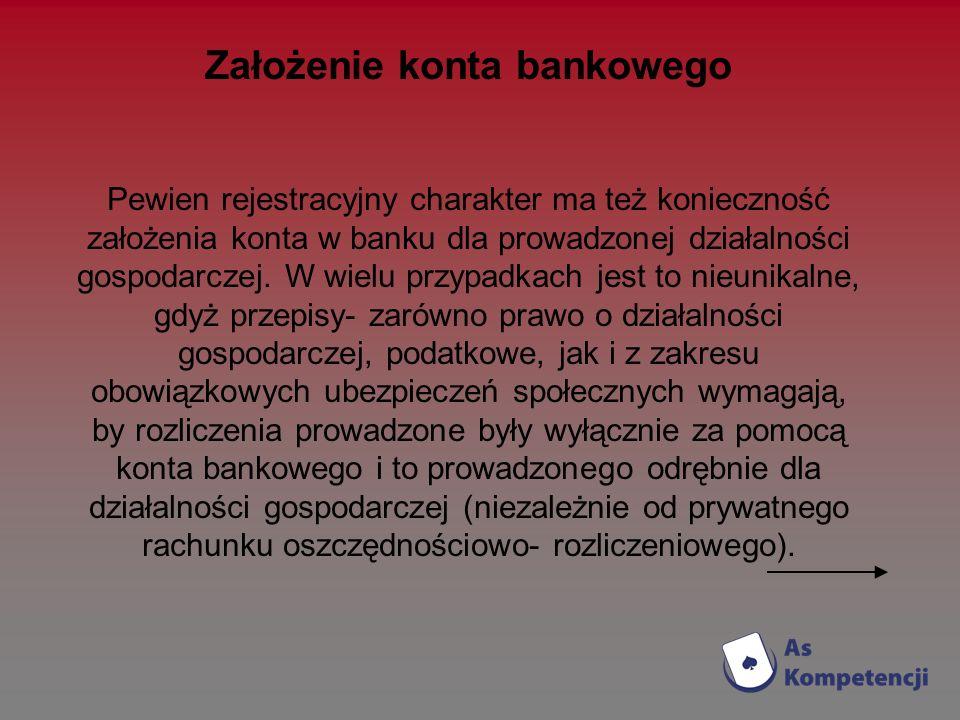 Założenie konta bankowego
