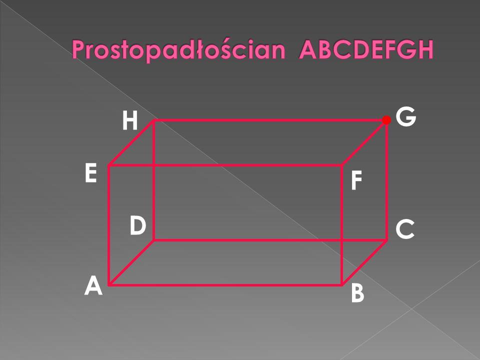 Prostopadłościan ABCDEFGH
