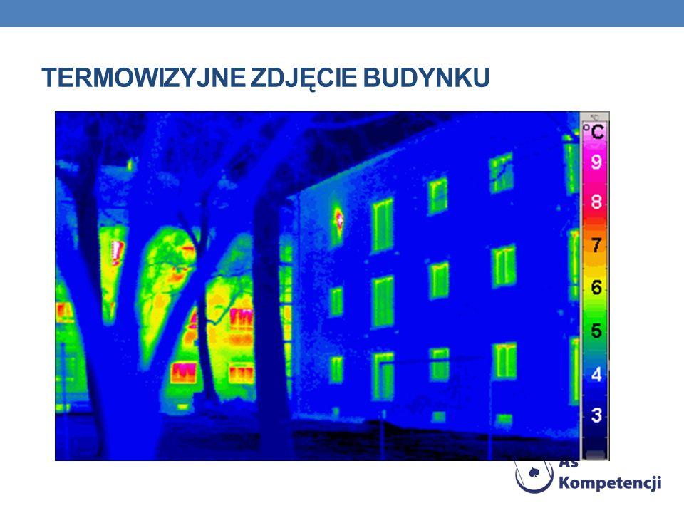 Termowizyjne zdjęcie budynku