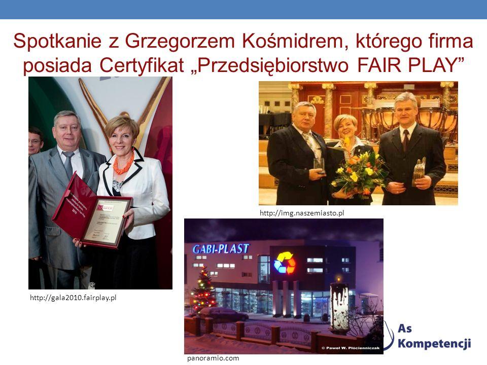 """Spotkanie z Grzegorzem Kośmidrem, którego firma posiada Certyfikat """"Przedsiębiorstwo FAIR PLAY"""
