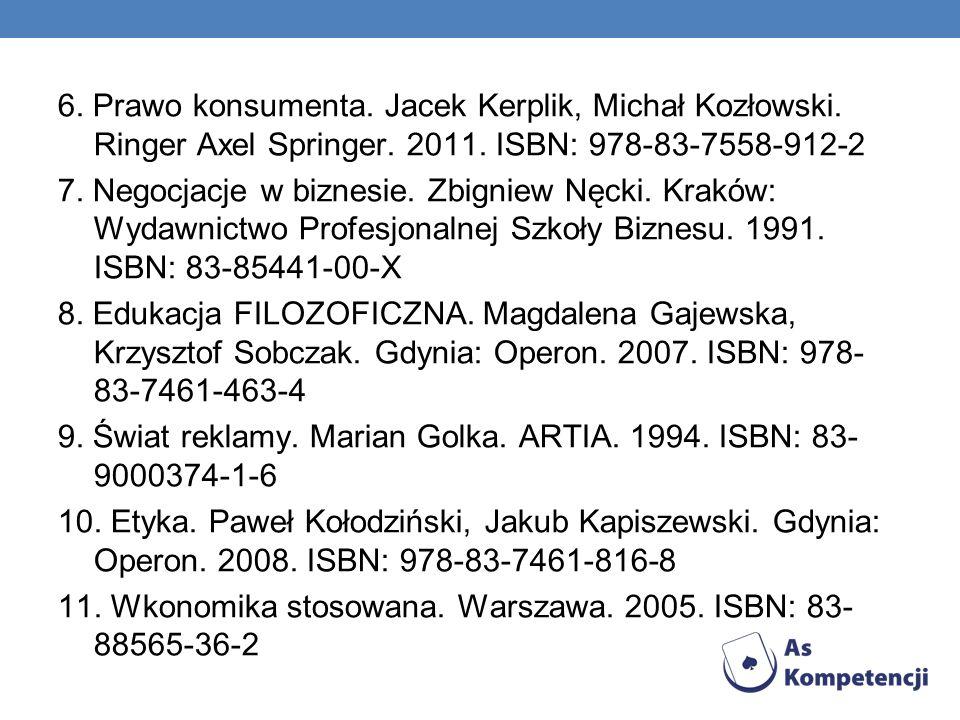 6. Prawo konsumenta. Jacek Kerplik, Michał Kozłowski