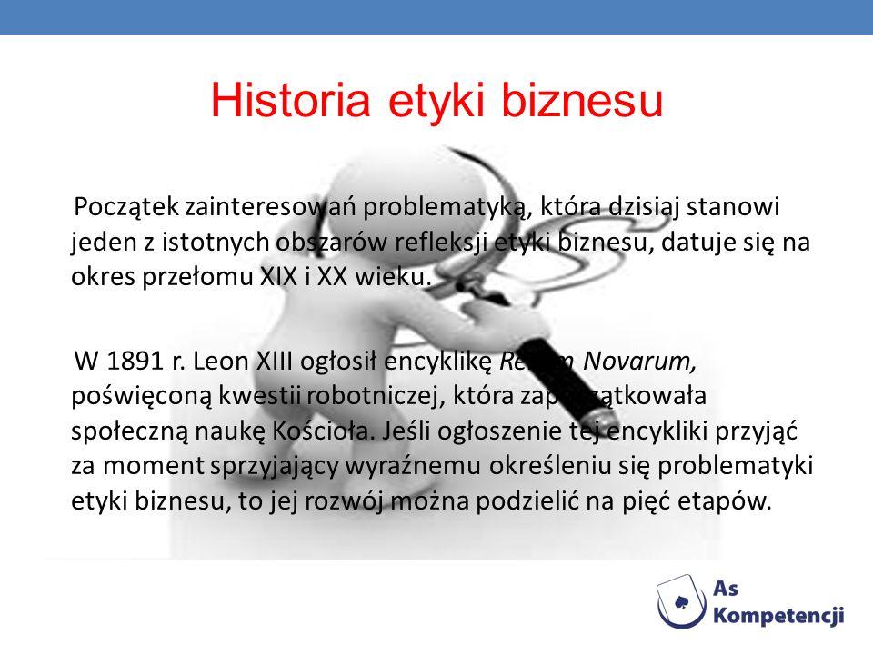 Historia etyki biznesu