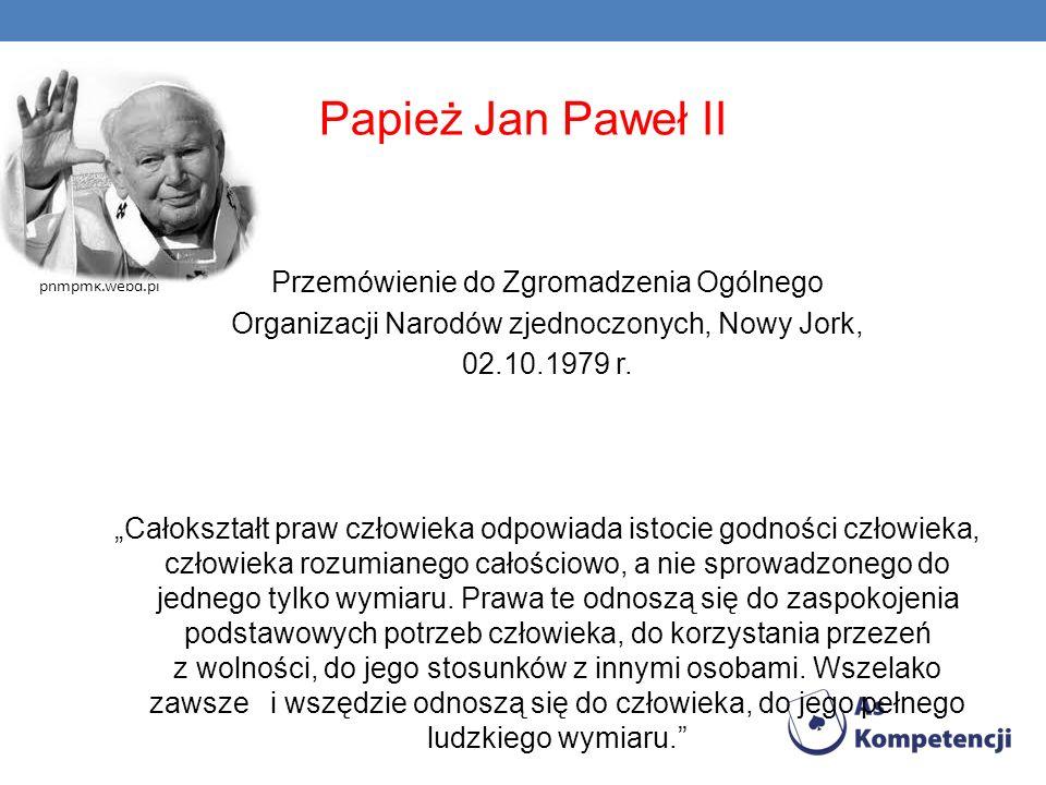 Papież Jan Paweł II Przemówienie do Zgromadzenia Ogólnego