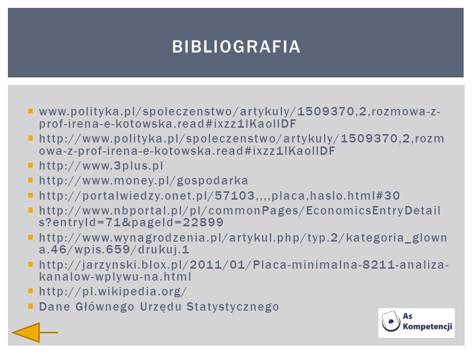 Bibliografiawww.polityka.pl/spoleczenstwo/artykuly/1509370,2,rozmowa-z-prof-irena-e-kotowska.read#ixzz1lKaollDF.