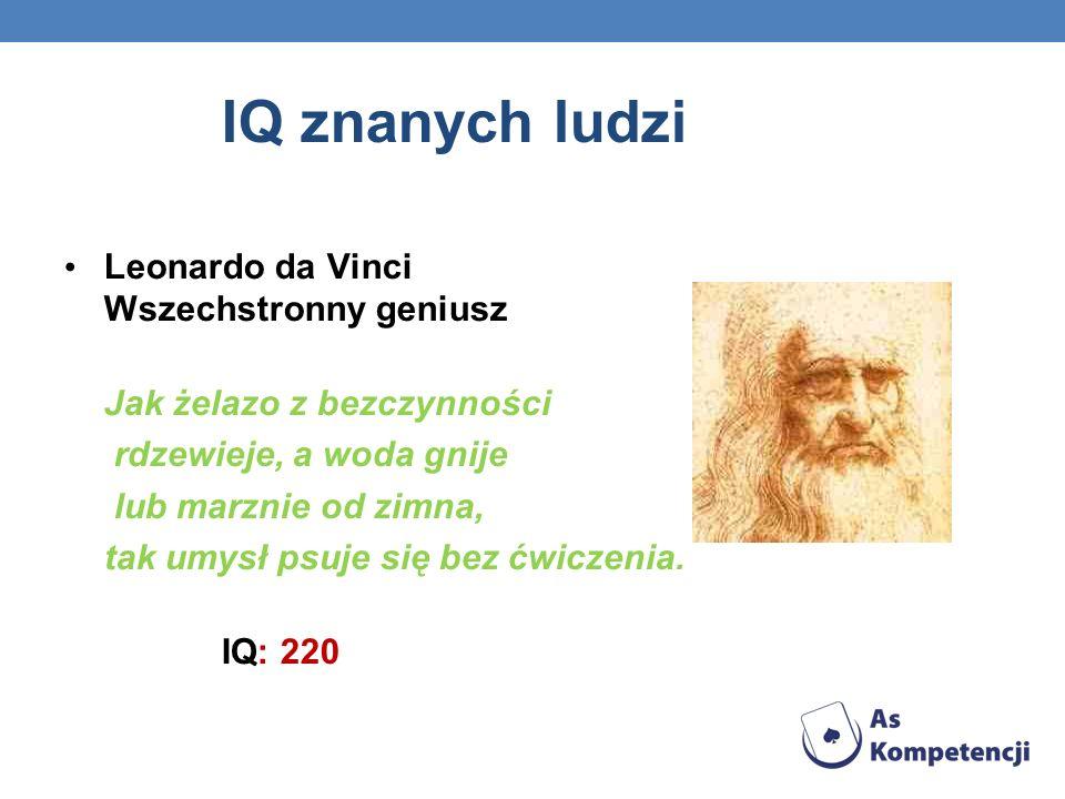 IQ znanych ludzi Leonardo da Vinci Wszechstronny geniusz