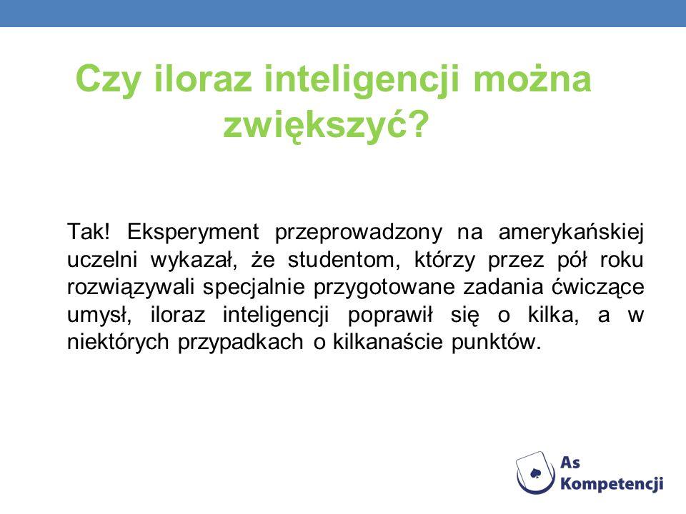 Czy iloraz inteligencji można zwiększyć