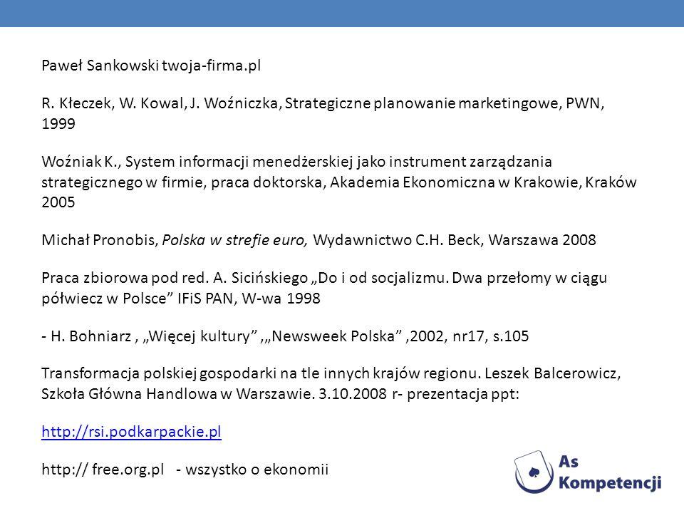 Paweł Sankowski twoja-firma. pl R. Kłeczek, W. Kowal, J
