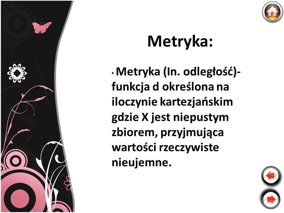 Metryka: