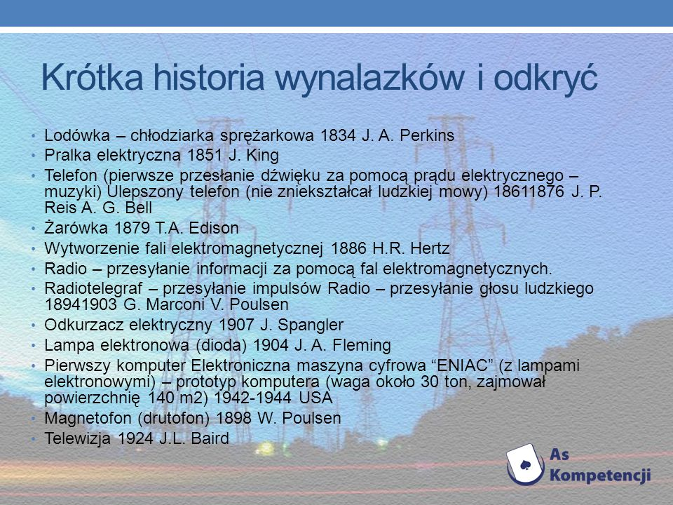 Krótka historia wynalazków i odkryć