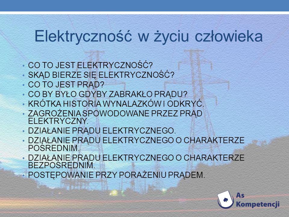 Elektryczność w życiu człowieka
