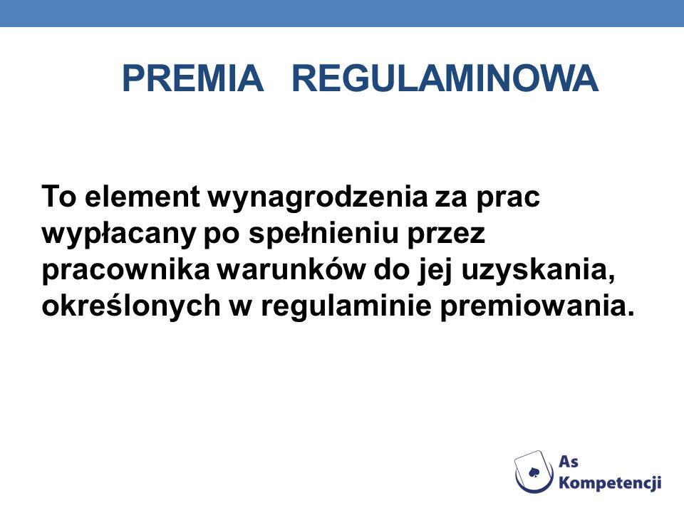 Premia regulaminowa