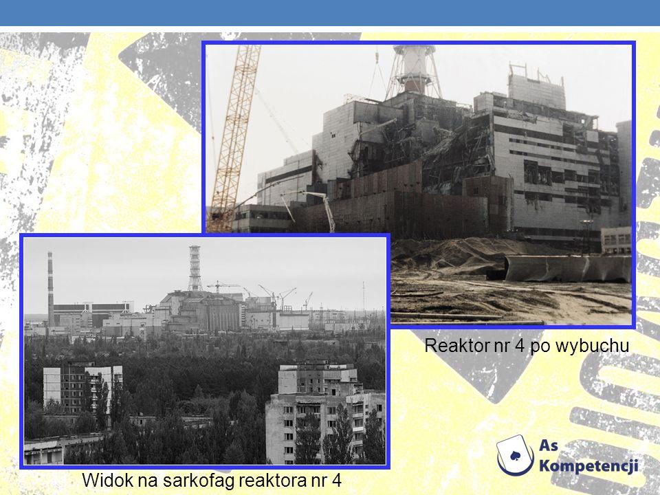 Reaktor nr 4 po wybuchu Widok na sarkofag reaktora nr 4