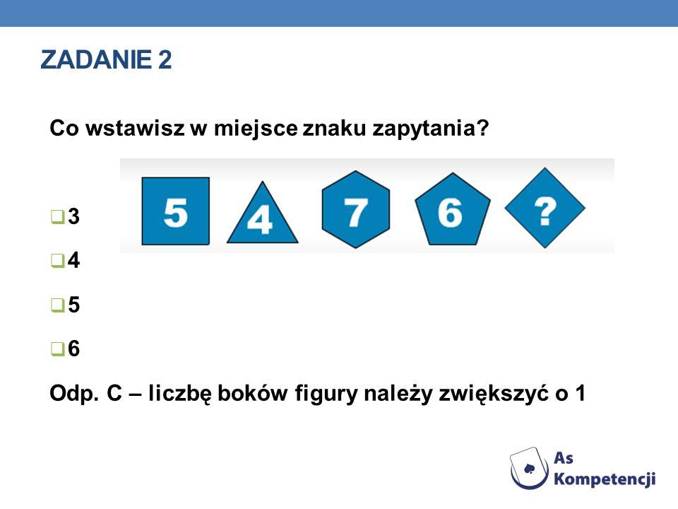 Zadanie 2 Co wstawisz w miejsce znaku zapytania 3 4 5 6