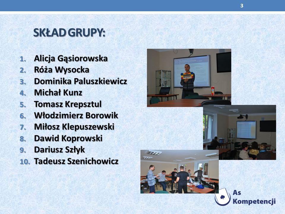 Skład grupy: Alicja Gąsiorowska Róża Wysocka Dominika Paluszkiewicz