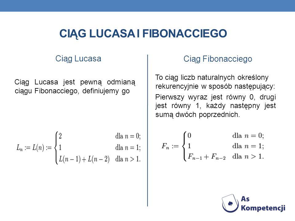 Ciąg lucasa i fibonacciego