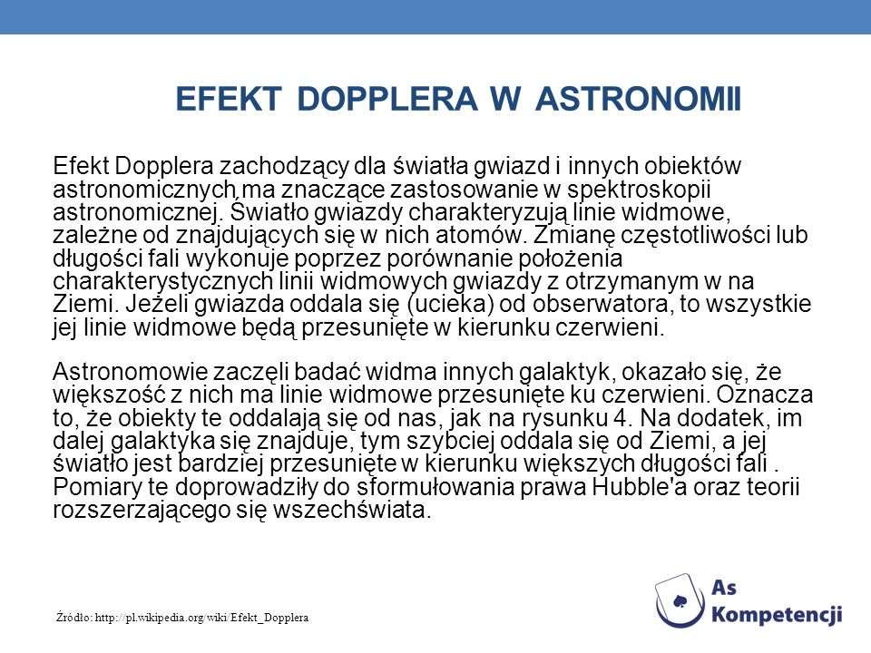 Efekt Dopplera w astronomii