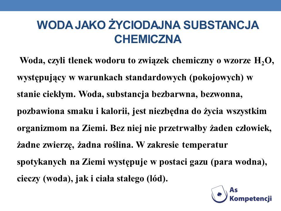 Woda jako życiodajna substancja chemiczna
