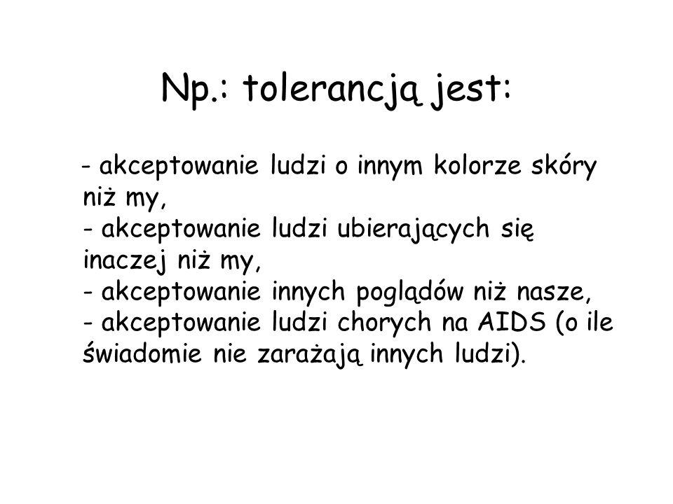 Np.: tolerancją jest: