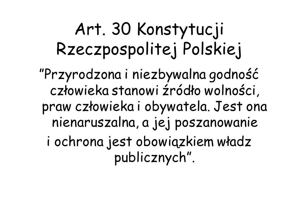 Art. 30 Konstytucji Rzeczpospolitej Polskiej
