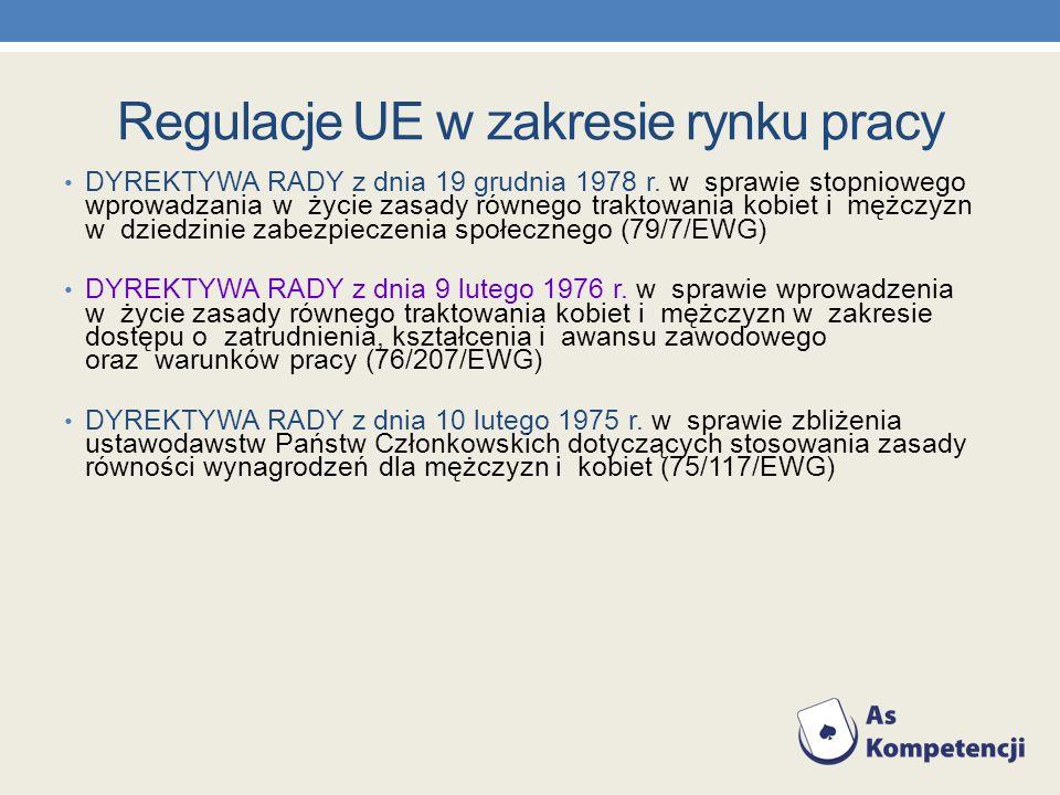 Regulacje UE w zakresie rynku pracy