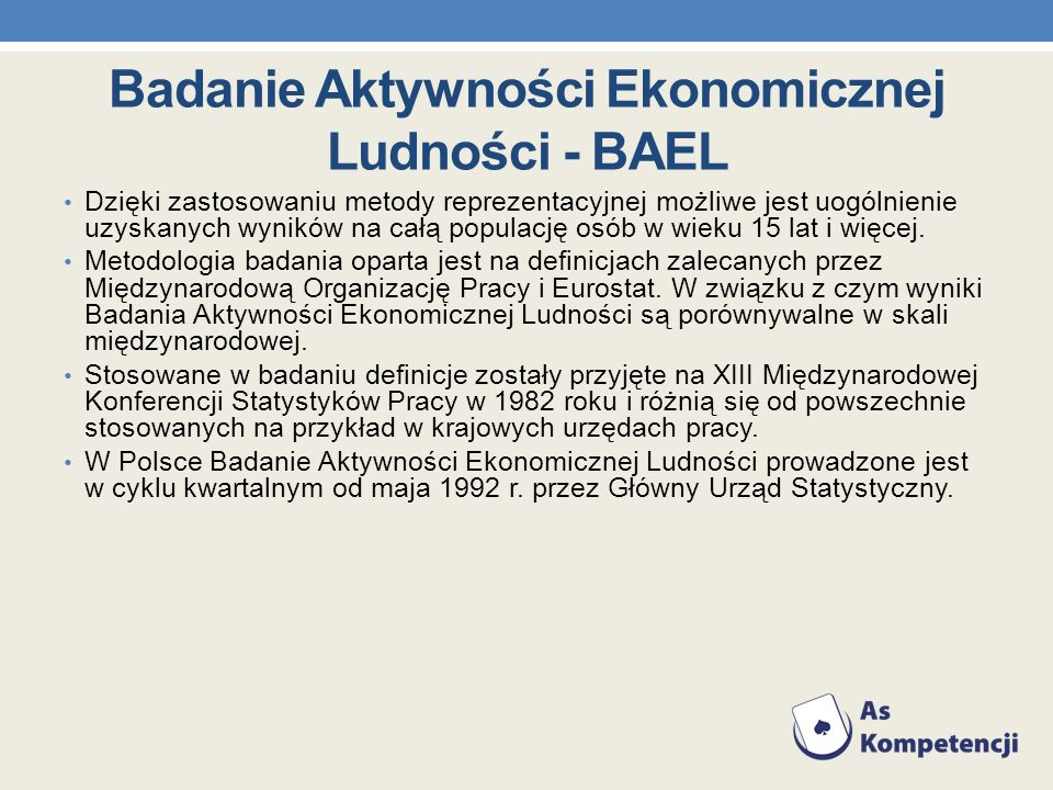 Badanie Aktywności Ekonomicznej Ludności - BAEL