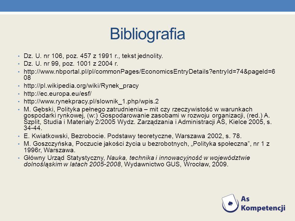 Bibliografia Dz. U. nr 106, poz. 457 z 1991 r., tekst jednolity.