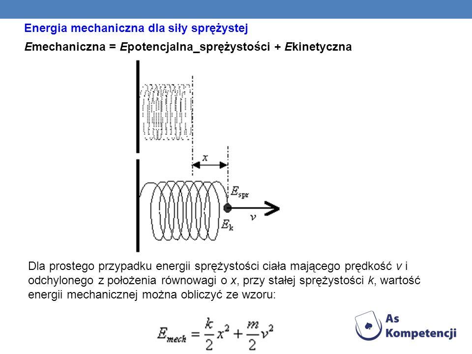Energia mechaniczna dla siły sprężystej