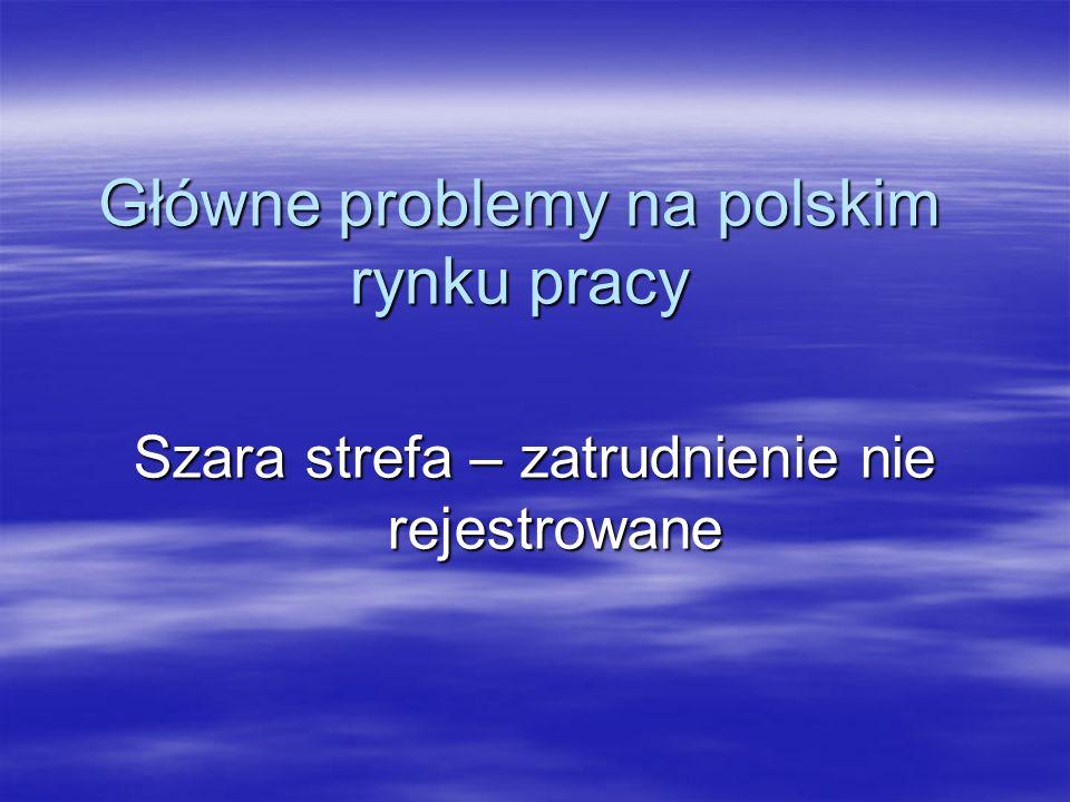 Główne problemy na polskim rynku pracy