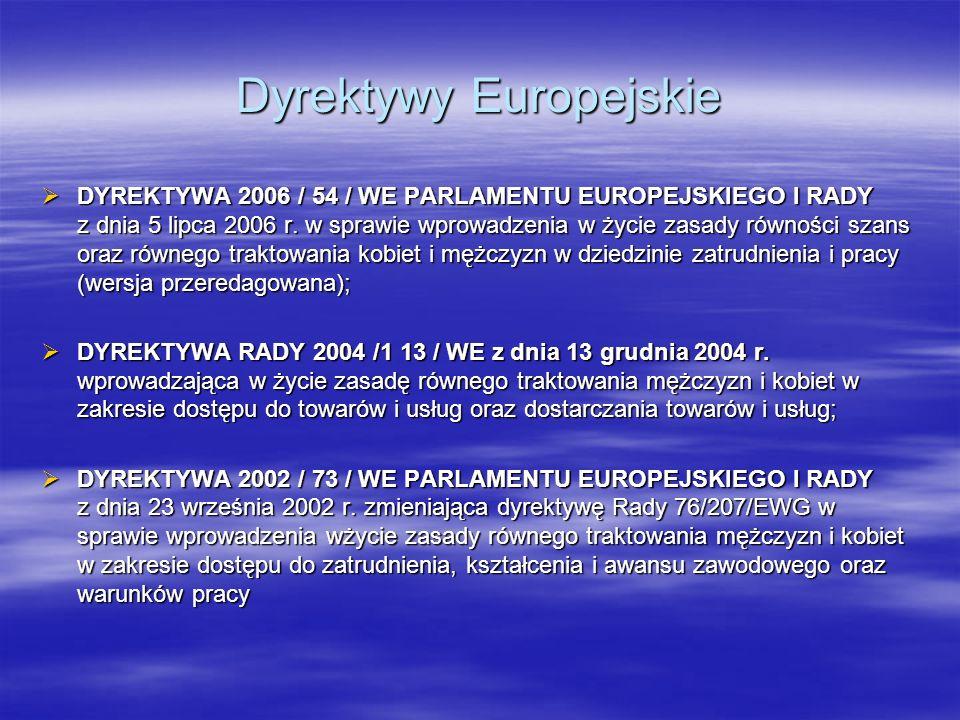 Dyrektywy Europejskie