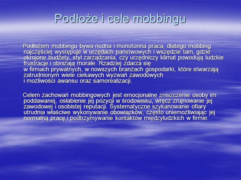 Podłoże i cele mobbingu
