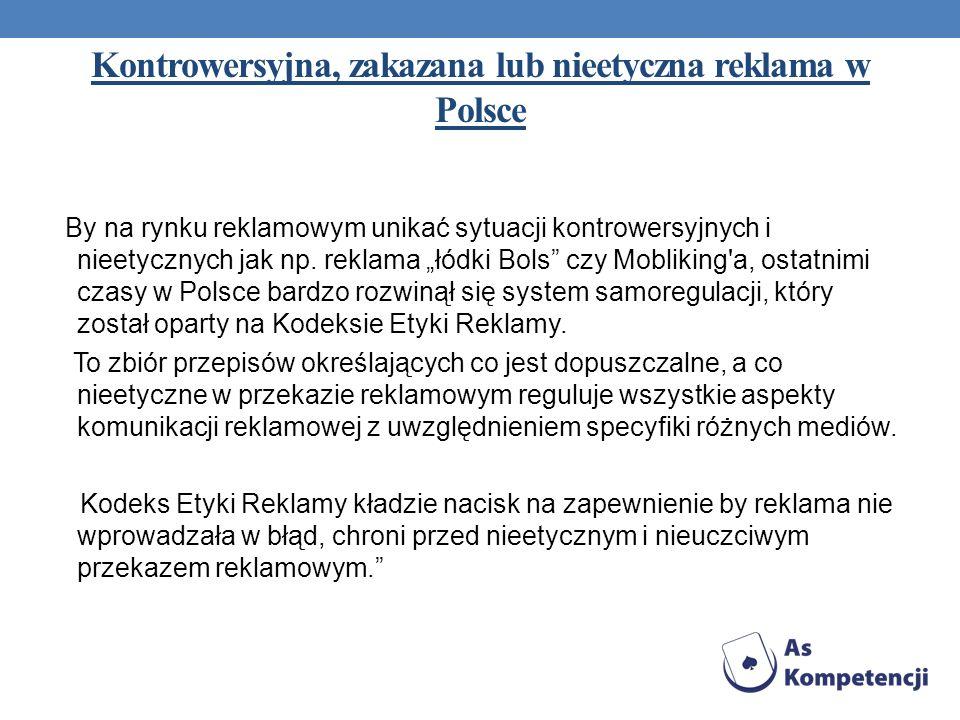 Kontrowersyjna, zakazana lub nieetyczna reklama w Polsce