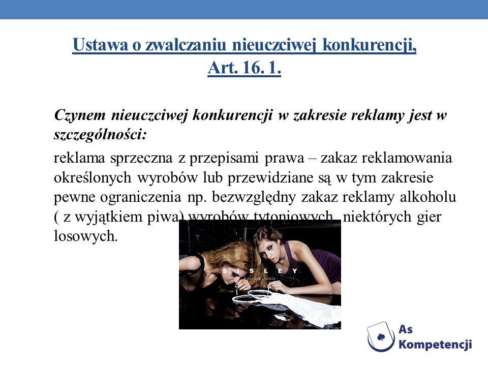 Ustawa o zwalczaniu nieuczciwej konkurencji, Art. 16. 1.