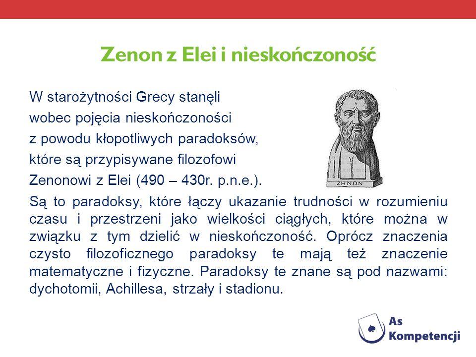 Zenon z Elei i nieskończoność