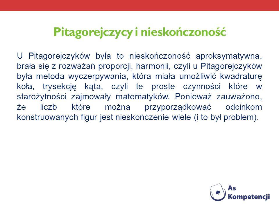 Pitagorejczycy i nieskończoność