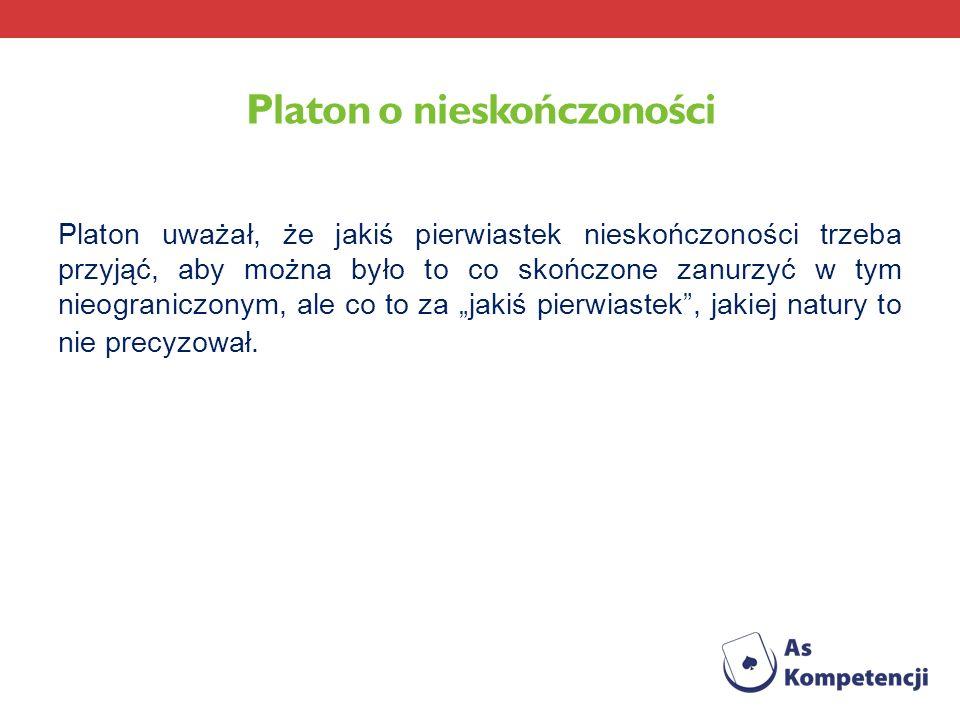 Platon o nieskończoności