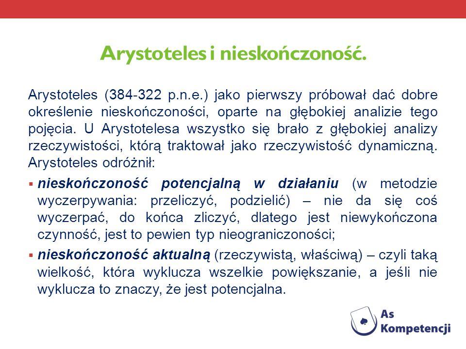 Arystoteles i nieskończoność.
