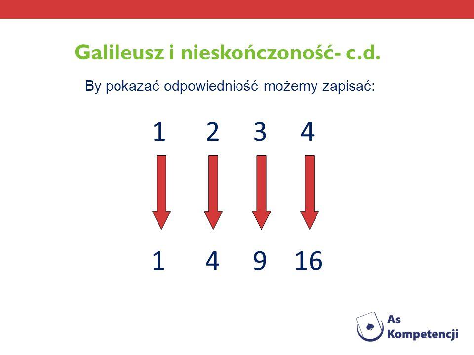 Galileusz i nieskończoność- c.d.