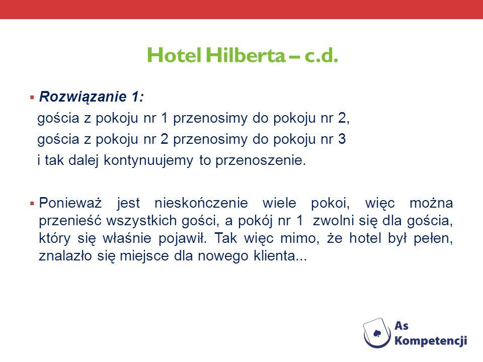 Hotel Hilberta – c.d. Rozwiązanie 1: