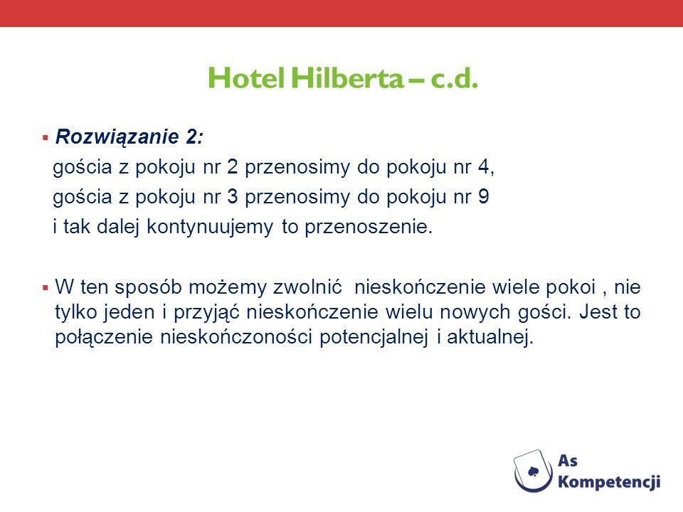 Hotel Hilberta – c.d. Rozwiązanie 2: