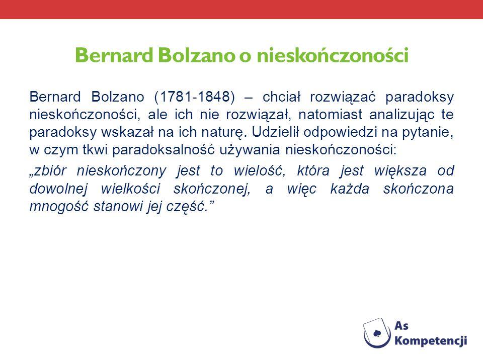Bernard Bolzano o nieskończoności