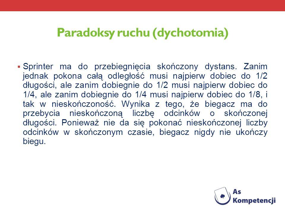 Paradoksy ruchu (dychotomia)
