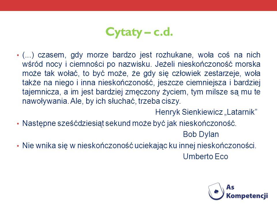 Cytaty – c.d.
