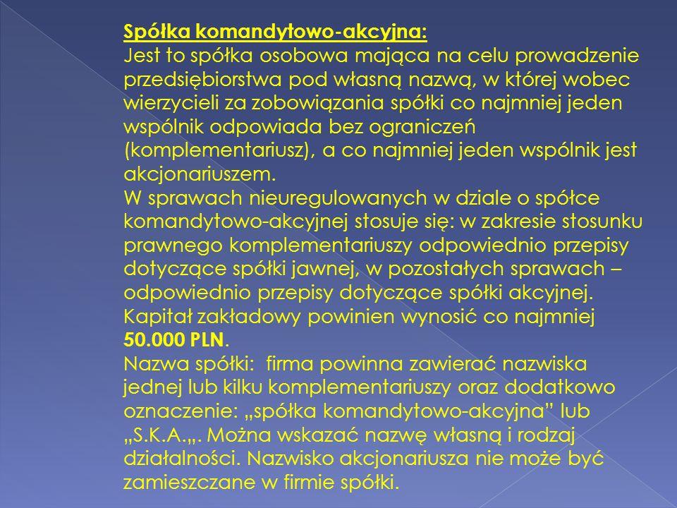 Spółka komandytowo-akcyjna: