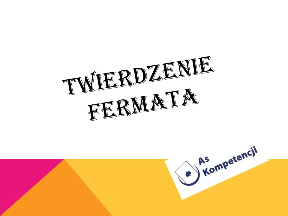 Twierdzenie Fermata