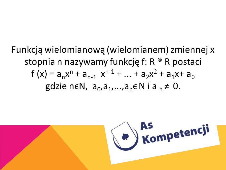 f (x) = anxn + an-1 xn-1 + ... + a2x2 + a1x+ a0